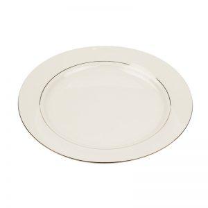 Charleston Ivory Gold Rim Dinner Plate 10.5
